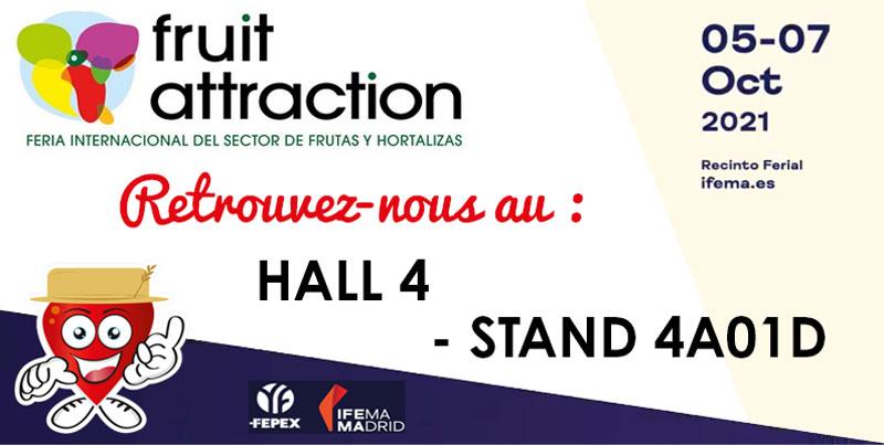 Retrouvez Fruits Rouges du Périgord sur le stand « FRUIT ATTRACTION » à Madrid, du 05 au 07 Octobre 2021
